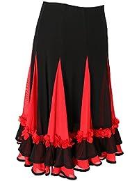 MagiDeal Jupe Danse Orientale Femme Jupe Gitane Longue Robe Longue Jupe De  Danse c61798385af