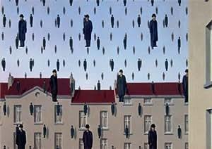 Reproduction d'art 'Golconde', de Rene Magritte, Taille: 30 x 21 cm