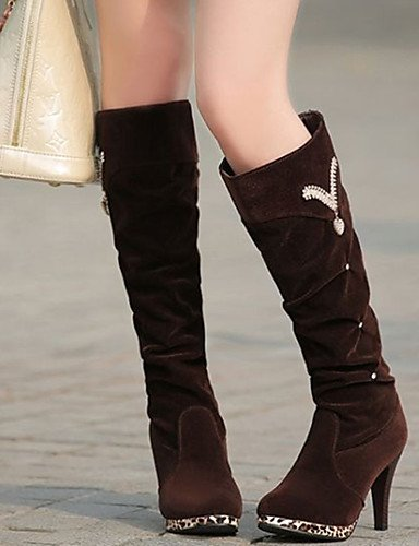 ShangYi Mode Frauen Schuhe Damen Stiefel Winter Fashion Stiefel PU and Stilettabsatz Perlen Schwarz / Braun Andere Braun