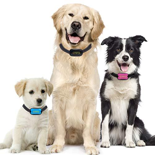 Antibell Halsband Hund Gerät zum Stoppen von Hundebellen OHNE SCHOCK SPRAY! SICHER HARMLOS Anti-Gebell Training mit Ton Vibration für kleine mittlere Große Rassen Erziehungshalsband hundehalsband