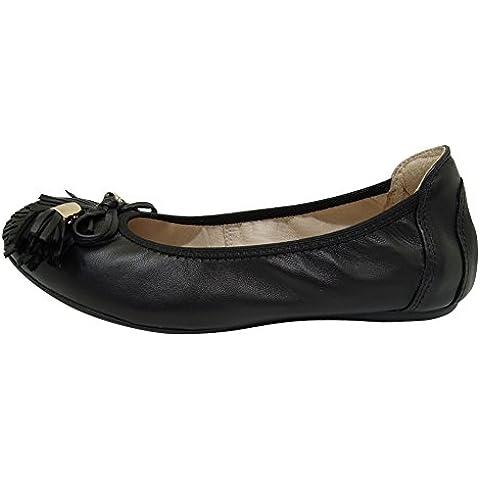 Deslizador de la manera de las mujeres ocasionales en los zapatos planos del cuero de la zalea zapatos de la danza del ballet Bailarinas Mujer 607-24