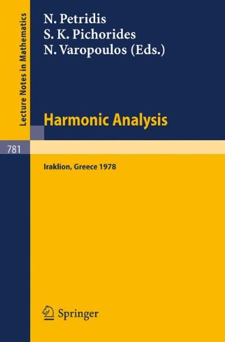 Harmonic Analysis 1978: Proceedings of a Conference Held at the University of Crete, Iraklion, Greece, July 1978