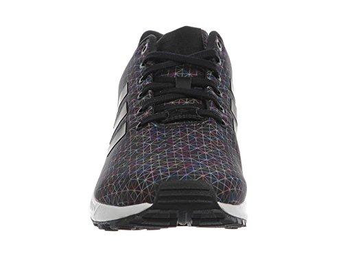 Adidas Originals Zx Flux Nero / nero / corsa scarpe da corsa sintetica bianca 7 M Us Black/Black/Running White