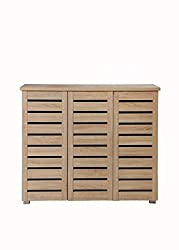 Timber Art Design Shoe Storage Cabinet with 3 Doors in Sonoma Oak Contemporary Hallway Furniture