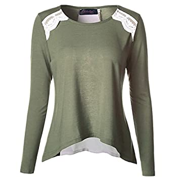 Gwcss Chiffon Stitching Long Sleeve Women , S 0