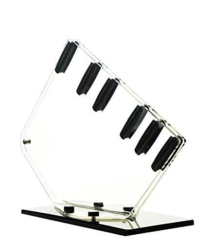 Genius Messerständer Acryl für 5 Messer, transparent/schwarz (876188D57)