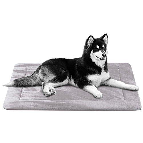 Groß Pet-kiste Reise (Weiche Hundedecken Waschbar Groß Rutschfest - Luxuriöse Grau Hundebett Grosse Hundekissen Matte von Hero Dog)