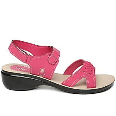 40ddc577cab4 PARAGON SOLEA Women s Pink Sandals  Buy Online at Low Prices in India -  Amazon.in