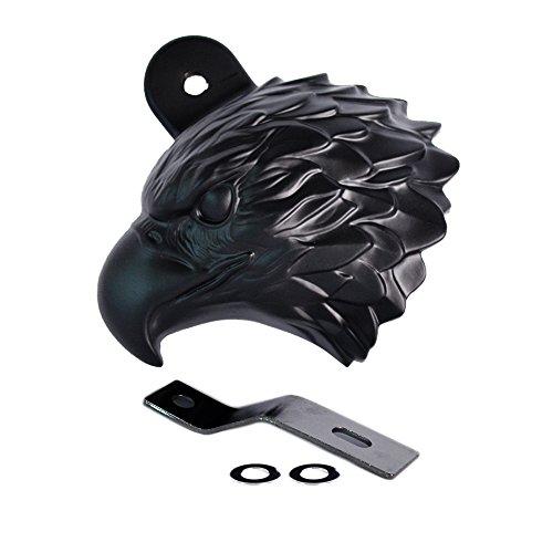 Horncover Motiv Eagle schwarz Hupenabdeckung für Harley Davidson Motorrad Bike Motorradzubehör (Harley-davidson-namen)