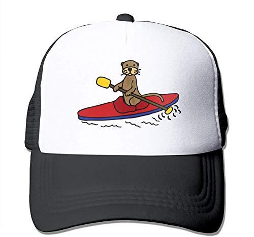 Voxpkrs Otter Kayaking Adjustable Mesh Trucker Baseball Cap Men Or Women Hip-hop Hat asdfghjklzxc2981