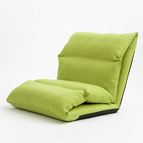 DULPLAY Folding Stock-liegestuhl, Verstellbar Computerstuhl rückenlehne, Folding Single Wohnzimmer Video Gaming Chair -grün 53x56x65cm(21x22x26inch)