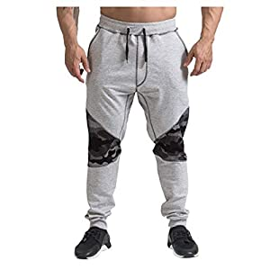 2019 Herren Hip Hop Hosen Tasche Kordelzug Sporthose, Herren Casual Loose Print Hose Farbe Patchwork Jogginghose Jogger…