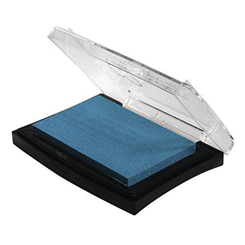 Rayher Hobby 29017356 Tsukineko Versa Color Pigment-Stempelkissen, cyan, 9,6 x 6,3 x 1,8 cm, Tinte auf Wasserbasis -
