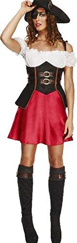 Frauen Fancy Party Flirty Kleid Caribbean Fever Piraten Sexy Wench Kostüm Outfit, ()