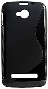 Micromax Bolt Q324 Magic Brand S-Line Black Soft Silicon Back Cover Case
