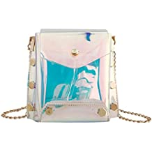Luckycat Mujer Transparente Bolso Transparente Candy Verano Playa Bolso Messenger bandolera Shoulder Crossbody Bolsos de mano