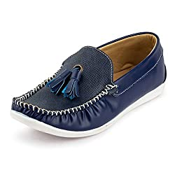 Rosso Italiano Mens Blue Bell Loafers Shoe (ril499bu801)7