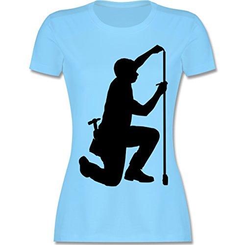 Handwerk - Zimmermann - tailliertes Premium T-Shirt mit Rundhalsausschnitt für Damen Hellblau