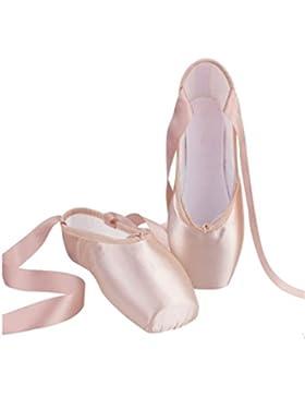 YOGLY Zapatos de Baile de Ballet Zapatilla de Ballet Pointe Para Adulta Niña, Profesional Bailarina Zapatos con...