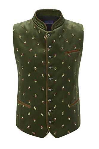Stockerpoint - Herren Trachten Weste in verschiedenen Farbtönen, Calzado, Größe:56, Farbe:Moosgrün