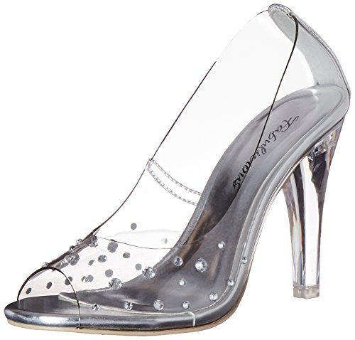Pleaser Clearly 420, Damen Pumps, Transparent (Clr Lucite), 37 EU