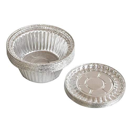 Einweg Runde Grill Tablett Aluminiumfolie Zinn Pad Paket Lunchbox Sauce Torte Kuchen Grill Box, packung 10 Sätze