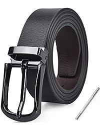 66c12800a Mens Belt Leather Reversible Designer Adjustable Removable Buckle Jeans  Casual Formal Belts For Men Black Brown