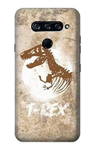 Innovedesire T-Rex Jurassic Fossil Hülle Schutzhülle Taschen für LG V40, LG V40 ThinQ