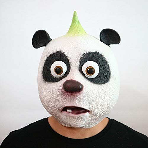 opf Latex Maske Lebensechte Riesen Panda Maske Halloween Cosplay Kostüm Prop Atmungsaktive Festival Party Liefert ()