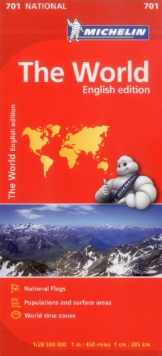 Michelin The World / Michelin Le Monde: English Edition / Edition Anglaise par Michelin Travel & Lifestyle