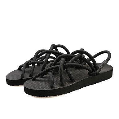 Pantofole Unisex & flip-flops Primavera Estate luce Comfort suole di scarpe Club Nylon outdoor casual Tacco a cuneo Nero Grigio Chiaro US8 / EU39 / UK6 / CN39