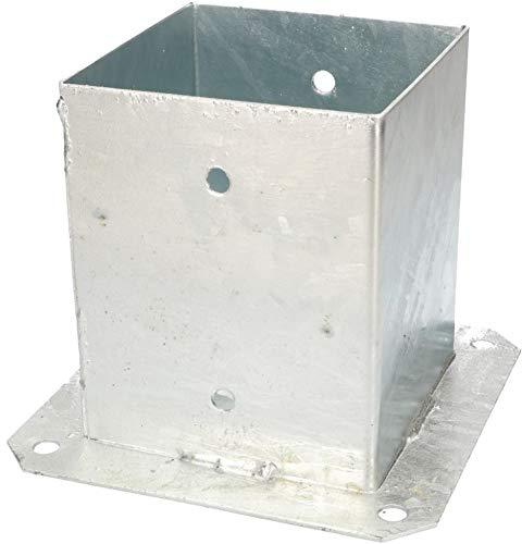 KOTARBAU Boccola a vite 120/100/90/70 mm, pali quadrati in legno, pali da pavimento, supporto per recinzione, manicotto zincato a...