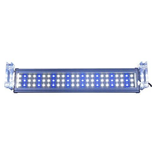 Aquarium Eco 55CM Super Fine en aluminium pour eau de mer Aquarium Réservoir d'eau douce Éclairage LED Luminaire de 56CM - 73CM