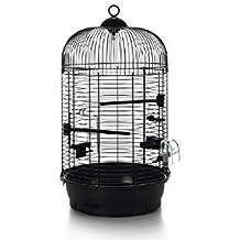 XL Vogel Käfig Metall Voliere Vogelkäfig rund schwarz 34 x 65,5 cm