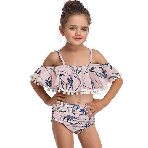 Mutter und Tochter drucken zweiteilige Badeanzug passenden Badeanzug Kleidung (Mädchen Bikini-3t)