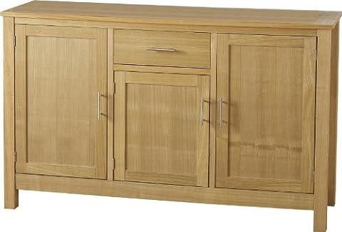 Oakleigh 3 Door 1 Drawer Sideboard in Natural Oak Veneer
