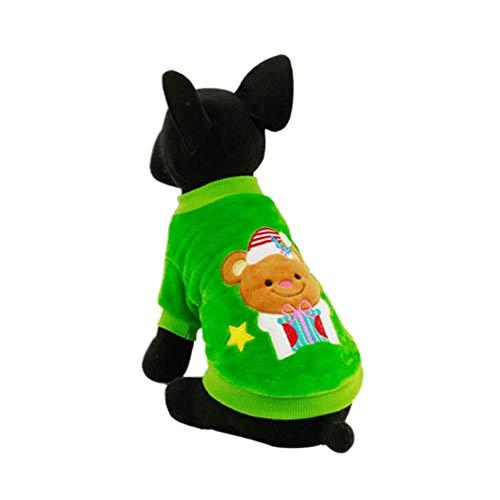 Blaward Haustiere Hund Weihnachten Kostüm Pullover für Herbst Winter Warm Stricken Kleidung für Hund Cozy Xmas Pattern Party Dress Up ()
