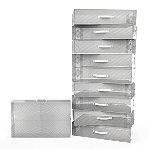 Super Storage Organiser - Stackable Folding Shoe Storage Boxes by Kurtzy TM