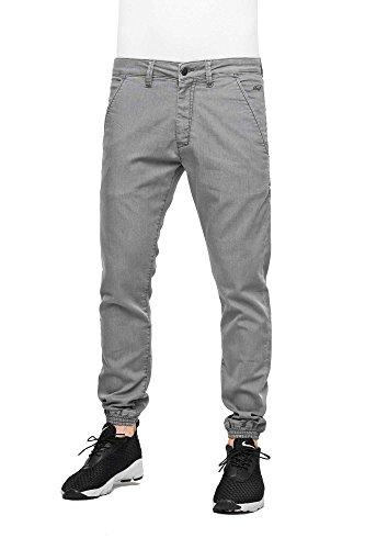Twill Jogger Für Männer Pants (REELL Jogger Pant, Premium Light Grey 32/32 Artikel-Nr.1100 - 1037)