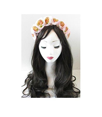 Grande fleur vintage Camellia Rose Bandeau festival Lana Del Rey Rose clair o66 * * * * * * * * exclusivement vendu par – Beauté * * * * * * * *