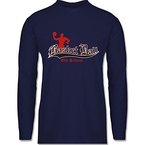 Basketball - Basketball Old School - Longsleeve / langärmeliges T-Shirt für Herren Navy Blau