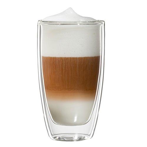 Bloomix C-113-300-G Roma Latte Macchiato doppelwandiges Thermo-Kaffeeglas 2-er Set
