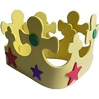 Corona de Cumpleaños Decoración Estrellas Color Amarillo Bricolaje