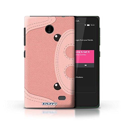 Kobalt® Imprimé Etui / Coque pour Nokia X / Requin conception / Série Cousu des Animaux Effet Cochon