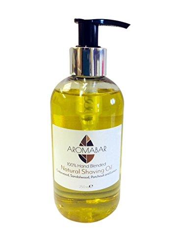 Natürliches Rasieröl Zedernholz Sandelholz Patchouli & Zitrone 250ml Vor Dem Rasieren