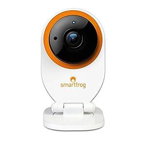 Smartfrog WLAN HD IP-Sicherheitskamera innen mit App für ein sicheres Zuhause; Geräuscherkennung; Nachtsichtfunktion; Bewegungserkennung; Alarmfunktion; Zwei-Wege-Audio; kostenlose Cloud