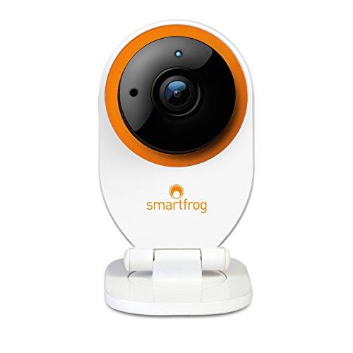 Smartfrog WLAN HD Überwachungskamera/IP-Kamera innen mit App für ein sicheres Zuhause; Nachtsichtfunktion; Bewegungsmelder; Alarmfunktion; Videospeicher; Zwei-Wege-Audio; einfach installiert