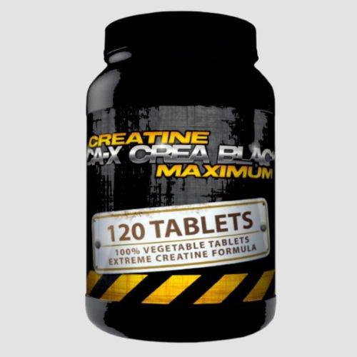 CA-X CREA BLACK MAXIMUM | (120 Tabletten Vegan) | Creatine Alkaline (Kre-Alkalyn) | Creatine Alkaline optimiert mit Vitamin B6 | Muskelaufbau - Masseaufbau - Kraftsteigerung - Schnellkraft | In GMP & ISO9001 Premium Qualität