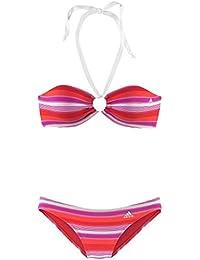 Adidas Damen Neckholder Bandeau Bikini gestreift Cup A/B
