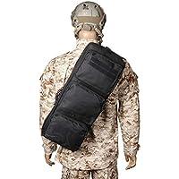 wolfslaves - Mochila táctica de 61 cm para Rifle Gear Hombro MP5 Sling Bag Army Mochila Negra MPS Bolsa de Caza Bolsa Cruzada, Negro